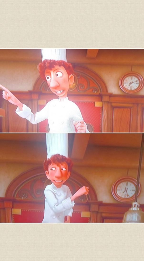 "In Ratatouille (2007), Linguine Gives An ""Inspirational Speech"" Before Food Critic, Anton Ego, Comes To Critique The Restaurant's Food. Pixar's Attention To Detail Shows The Staff Visibility Exhausted By This Speech. That's Because It Lasts Almost 20 Minutes During Dinner Service!"