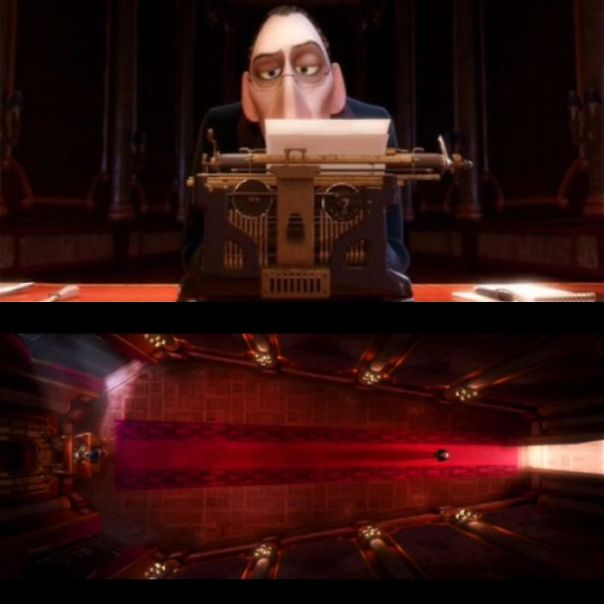 In Disney Pixar's Ratatouille (2007) Anton Ego's Typewriter Resembles A Skull And His Office A Coffin