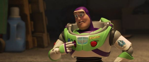 In Toy Story 4 (2019), A Closer Look At Buzz Lightyear Shows That His Stickers Are Slowly Starting To Peel Away