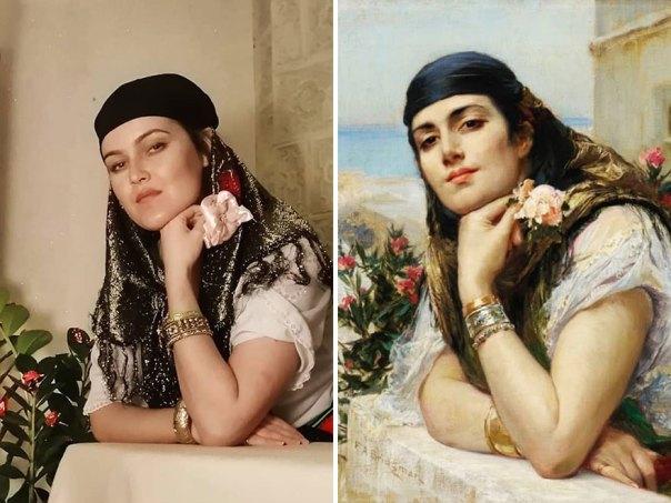 "Frederick Arthur Bridgman ""Woman Of Algiers"" (~1900)"