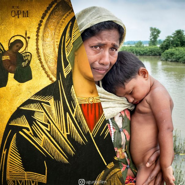 A Rohingya Refugee Mother And Child