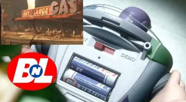 In Toy Story 3 (2010), The Batteries In Buzz Lightyear's Back Are Buy N Large Brand, The Same Company From Wall-E