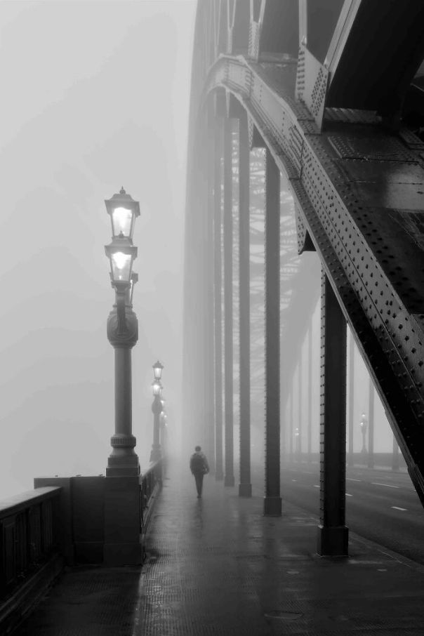 Black And White Commended: Alan Storey, 'Fog On The Tyne', Tyne And Wear