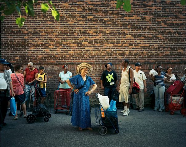 Gloria Almanzar, A Former Actress From The Dominican Republic,76, Waits In Line At The Food Pantry