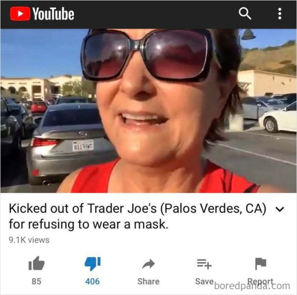 """Karen Goes To Trader Joe's Without A Mask, Employees Ask Her To Put On A Mask Or Leave, She Refuses & Makes A Commotion Because It's Her """"Civil Liberty"""", Then Posts It On Youtube"""