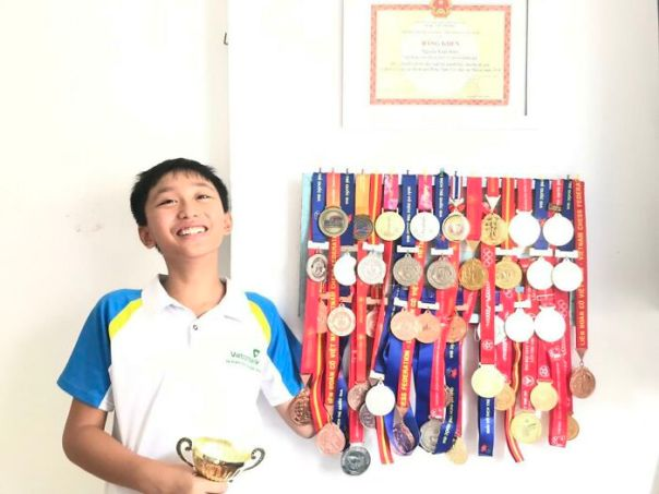 I'm 14 And Here Is A Picture Of Me And My Chess Medals