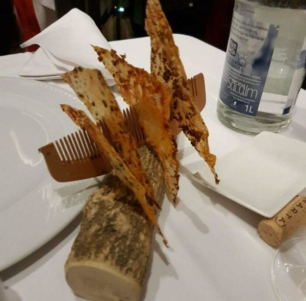 Bread Chips On A Comb