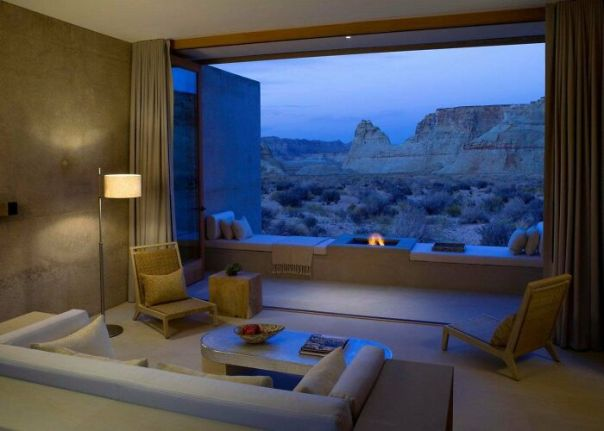 Living Room With Open Air View Of Utah's Southern Desert