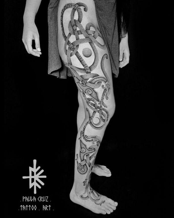Handpoke Viking Tattoo