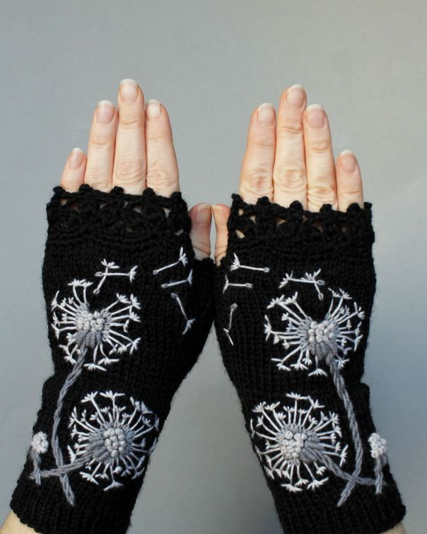 I Borrow Ideas From Nature And Create Unique Gloves With Nature-Inspired Embroidery