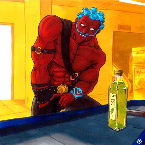 Hakan (Street Fighter) And Oil
