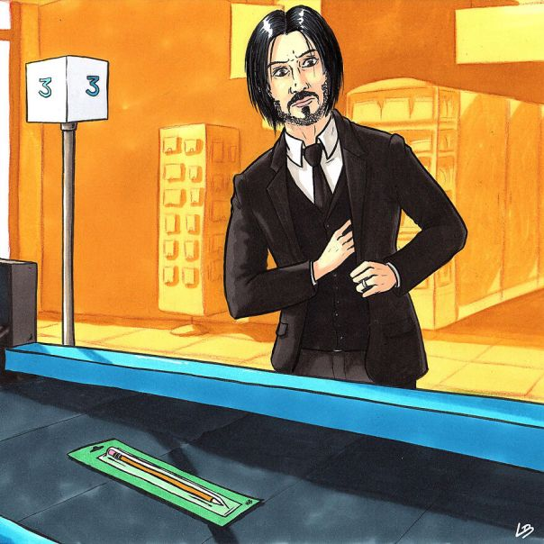 John Wick And A Pencil