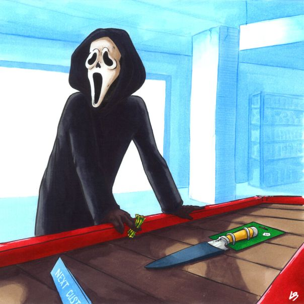 Ghostface And A Knife