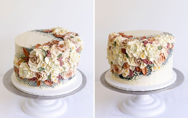 Neutral Micro Wedding Cake