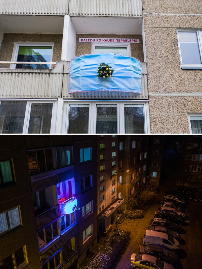 Vilnius Moves Christmas To Balconies To Celebrate Holidays In Safe Way