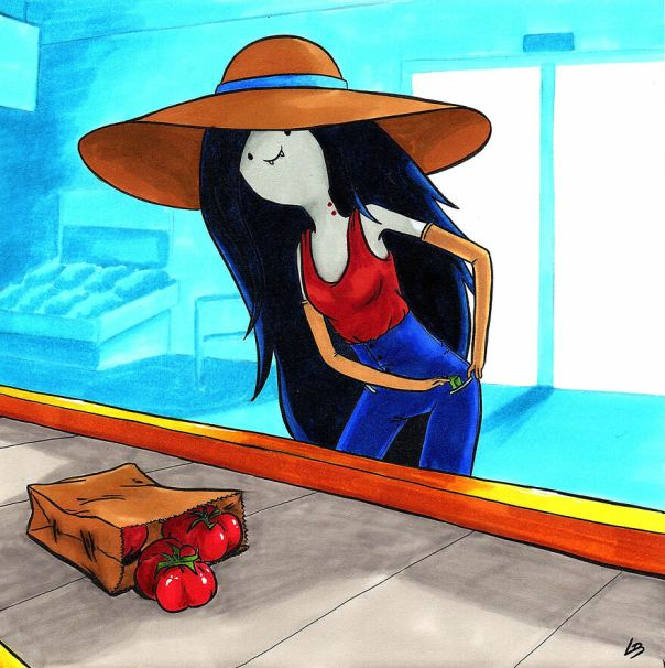 Marceline The Vampire And Red Tomatoes