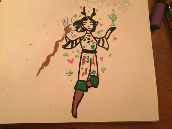 My Forest Elf With Paint Pens Named Dawn