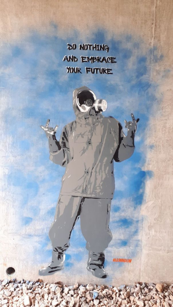 Embrace The Future Painted In Bristol United Kingdom