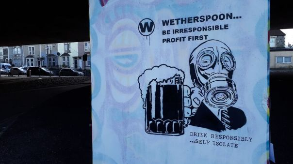 Drink Responsibly Painted In Bristol United Kingdom