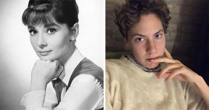 Audrey Hepburn And Emma Ferrer