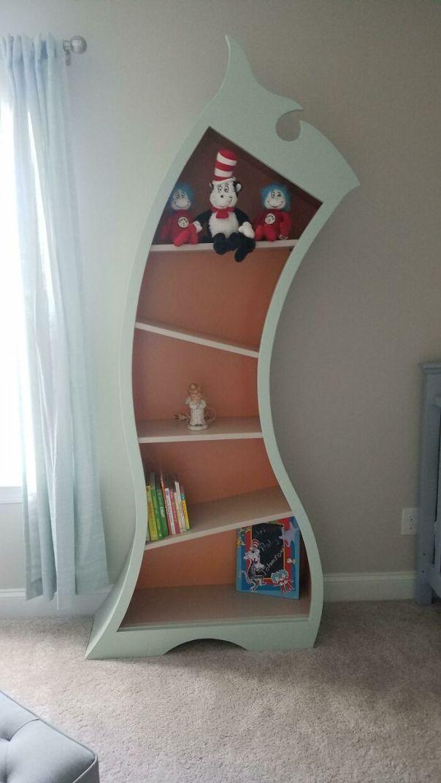 Wife Wanted A Dr Seuss Themed Nursery So I Built A Dr Seuss Bookshelf