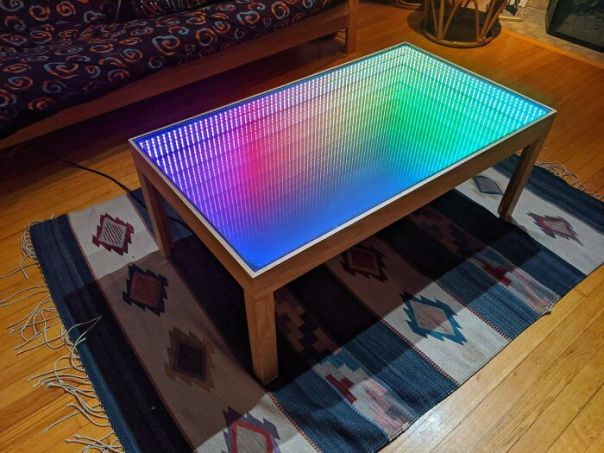 I Made A 600 LED Programmable Infinity Mirror Coffee Table!