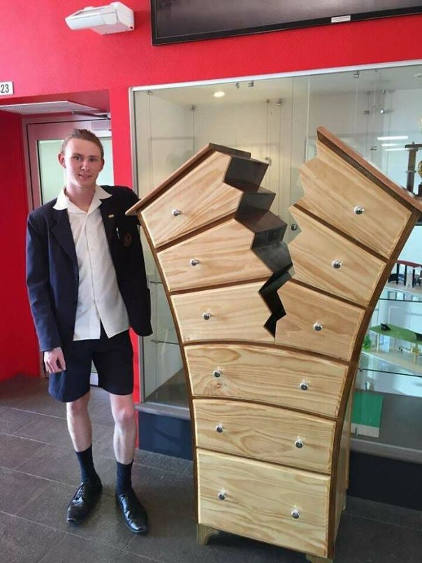 'splitting From The Norm'. A 16-Year Old From A Local School Has Made An Insanely Awesome Piece