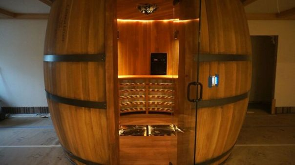 This Will Go Down As One Of The Coolest Builds I've Ever Done. Wine Barrel Wine Cellar