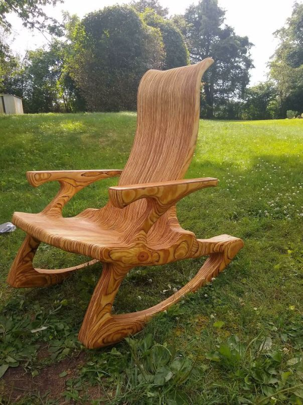 Heard There Was A Plywood Challenge So Here Is My Plywood Rocker For Consideration.