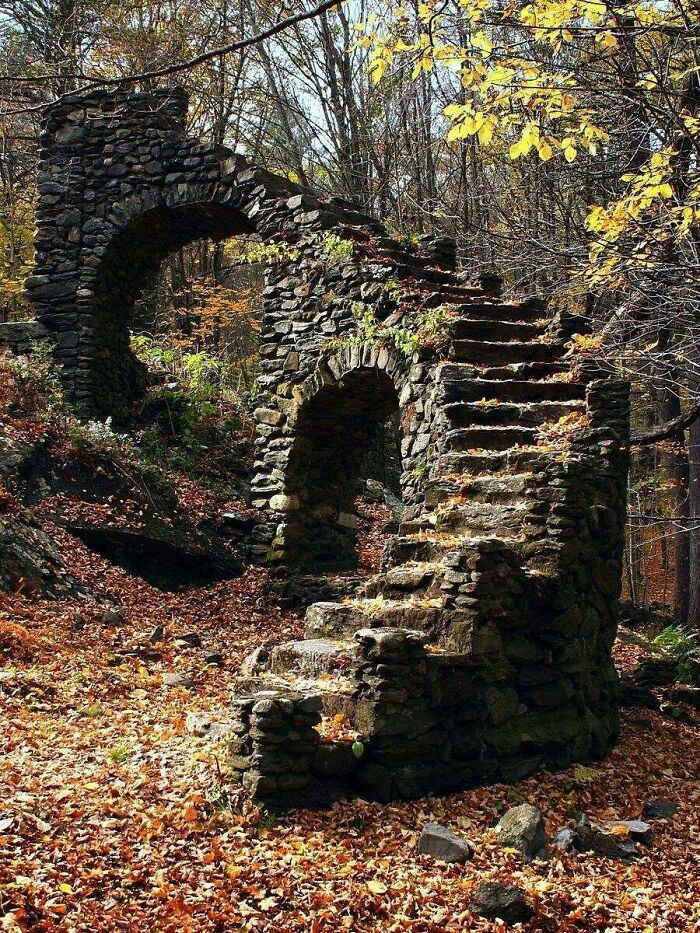 Abandoned Stairway In The Woods: Madame Sherri Forest, Chesterfield, Nh