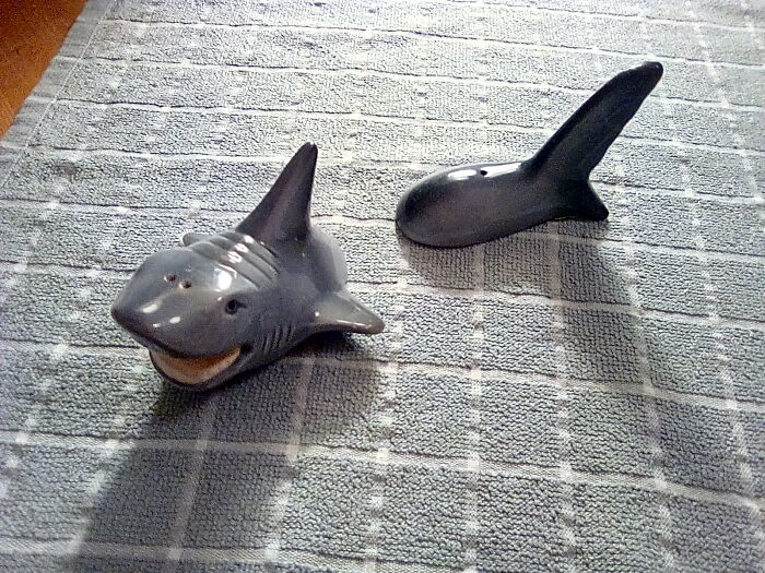 I Absolutely Love Sharks. Salt And Pepper Shakers, 50p!