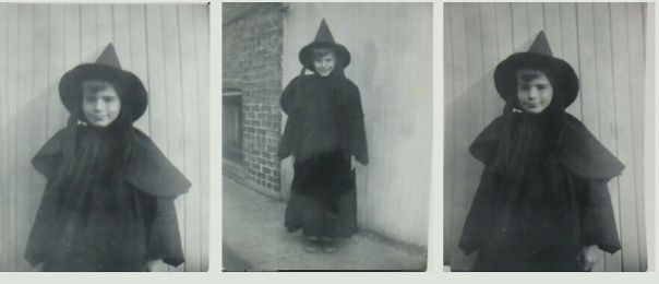 "Vintage Snapshots ""Boy Witch"" Circa 1940s"