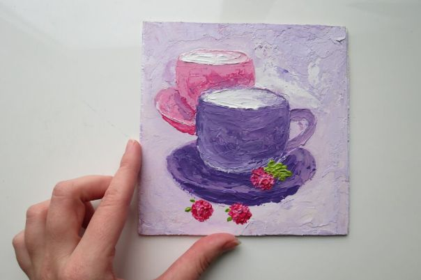 Purple-Pink Dream Cups With Berries