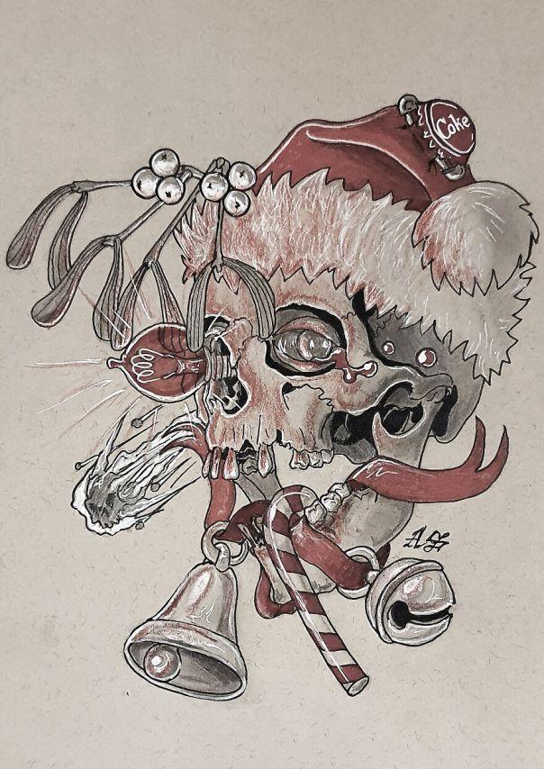 Christmas (Just Loads Of Christmas Stuff, Mistletoe, Christmas Ornaments, Star Of Bethlehem, Cola Bottle Cap And A Santa Hat Instead Of Crown)