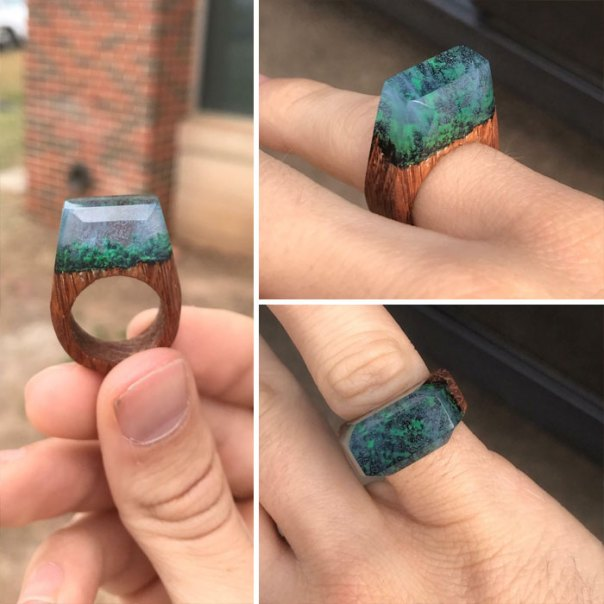 Girlfriend Wanted A 'My Secret Wood' Ring, So 10 Failed Rings Later, I Made One Just How I Pictured It