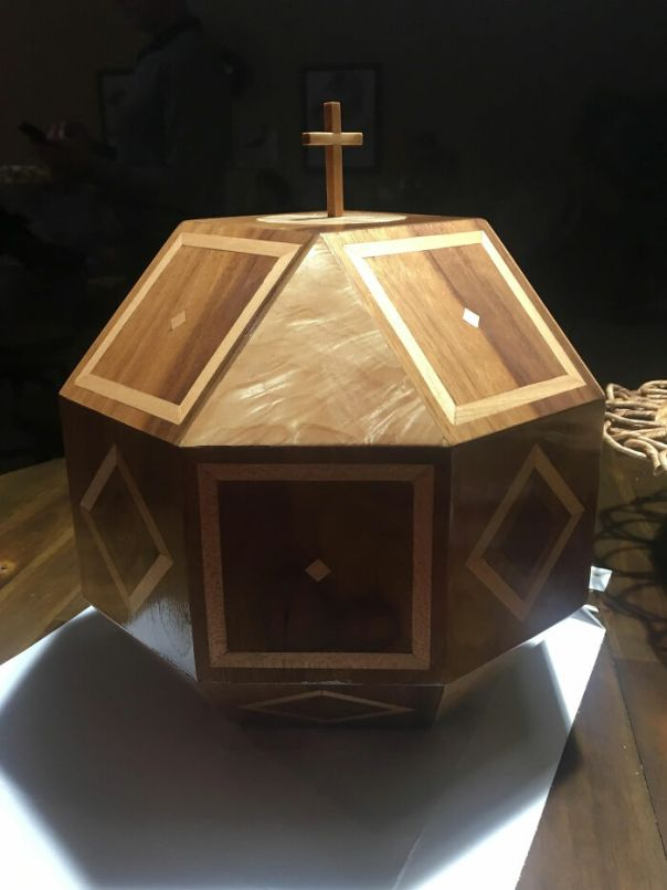 My Mom Died From Cancer, But Before She Passed She Asked Me To Make Her Urn. We Would Jokingly Refer To It As Her Death Box. She Was A Strong Woman