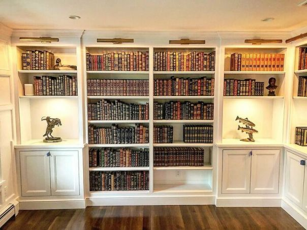 Library I Did. There Are Many Leather Bound Books, And It Smells Of Rich Mahogany