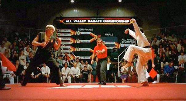 Why Was Daniel Allowed To Do The Crane Kick In The Karate Kid (1984) When It's Clearly Illegal?