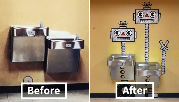 Robot Water Fountains