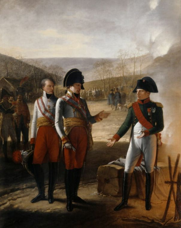Interview Between Napoleon I And Francis II Of Austria, December 4, 1805 By Prud'hon, Pierre-Paul (1809)