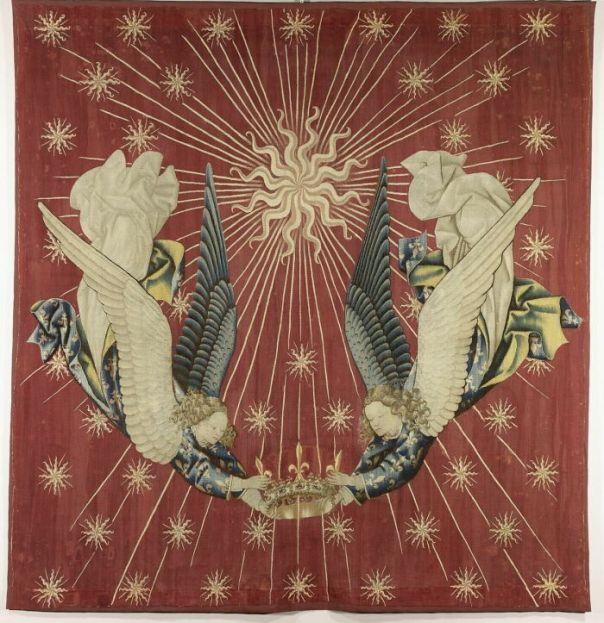 Dais De Charles VII: Two Angels Holding A Crown By Jacob De Littemont (1425 - 1450)