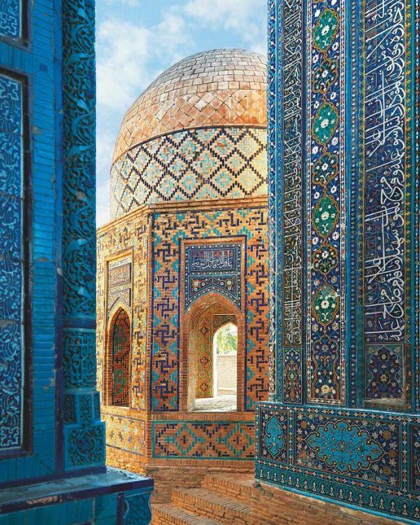 The Stunning Shah-I-Zinda Necropolis In Samarkand, Uzbekistan