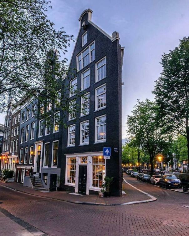 Very Narrow Corner House, Amsterdam, Netherlands