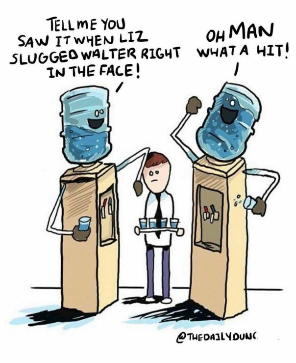 Water Cooler Talk. #thedailydunc - hope Everyone Had A Great Monday! Tell Me About It In The Comments Below.