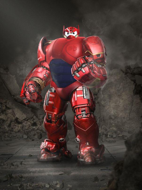 Baymax And Iron Man