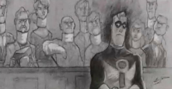 "In ""The Incredibles,"" The Reason The Court Room Scene Is Drawn As Opposed To Animated Like The Rest Of The Movie Is Because It Is Illegal To Record In A Courtroom Without Proper Supervisions"