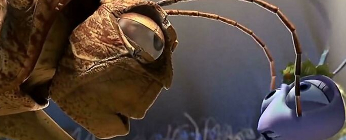 "In Pixar's 'A Bug's Life'(1997) The Grasshopper Leader Hopper Remarks That The Ant Princess Atta Don't ""Smell Like The Queen"" While Moving His Antennas Across Her Face. That's Because It's How Insects Irl Actually Smell Since They Don't Have Noses"
