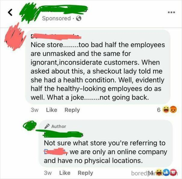 Guy Leaves A Bad Review For A Shop He Was Never Even At
