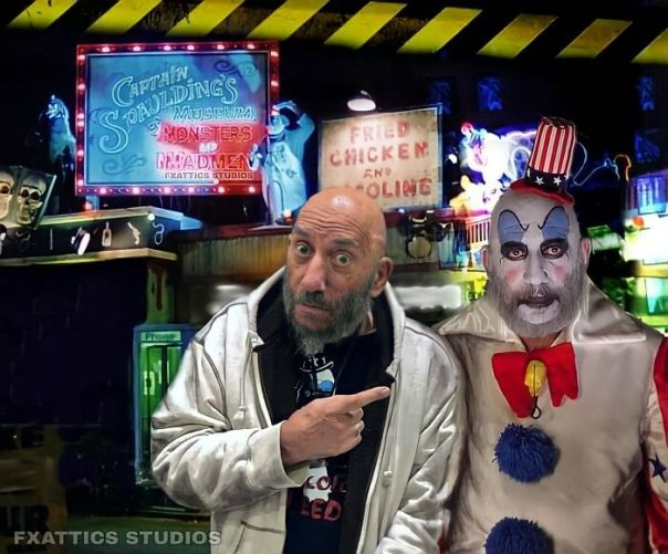 """Captain Spaulding And Sid Haig From """"House Of 1000 Corpses"""""""