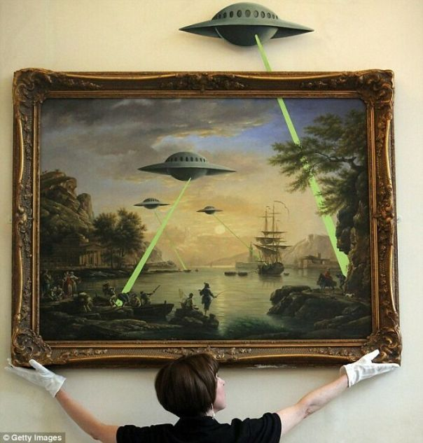Flying Saucer Aliens By Banksy